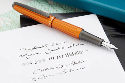 Diplomat Aero Fountain Pen - Orange (Custom Nib Grind)
