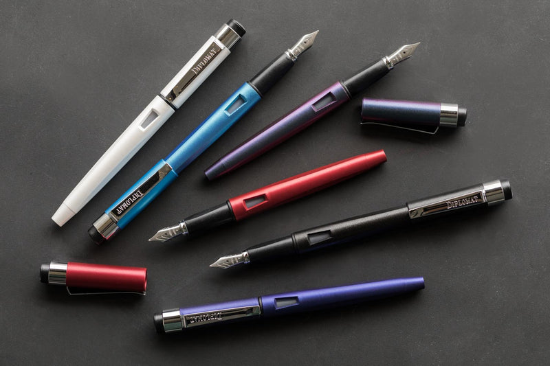 Diplomat Magnum Fountain Pen - Prismatic Purple