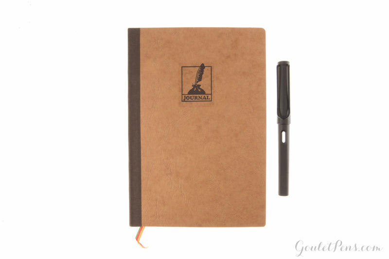 Exacompta Basic A5 Journal - Tan/Gold, Lined