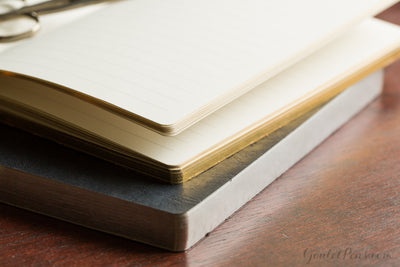 Exacompta Basic Journal - Tan/Gold, Lined (5.5 x 8.25)