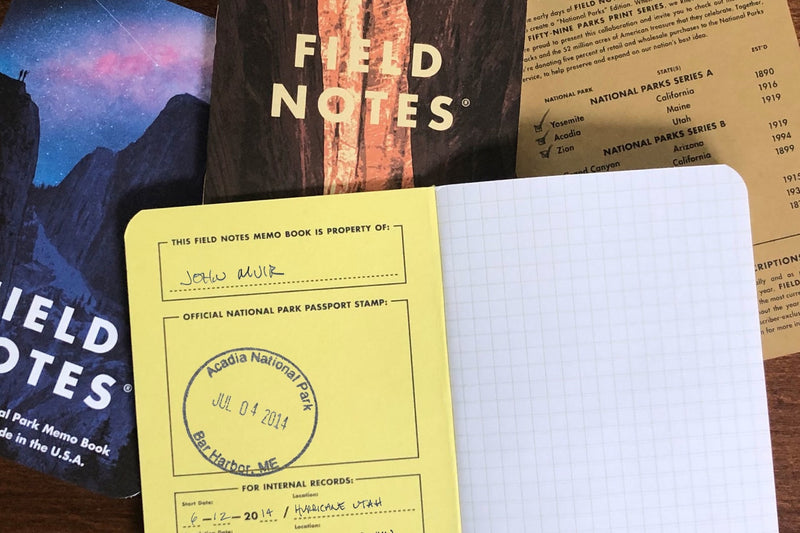 Field Notes Notebooks - National Parks (Summer Edition 2019)