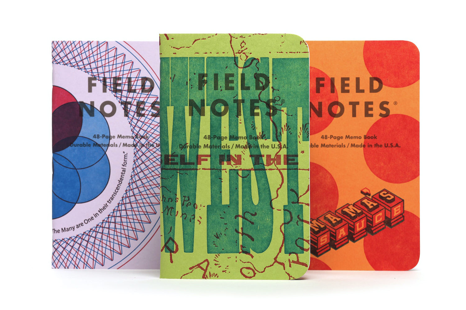 Field Notes Notebooks - United States of Letterpress Pack A