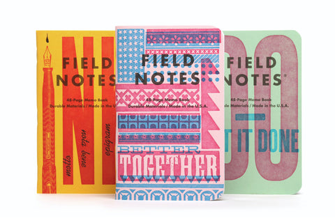 Field Notes Notebooks - United States of Letterpress Pack B (Fall Edition 2020)