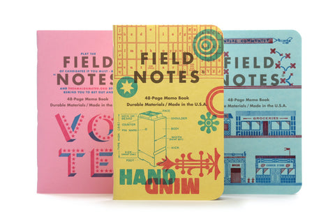 Field Notes Notebooks - United States of Letterpress Pack C (Fall Edition 2020)