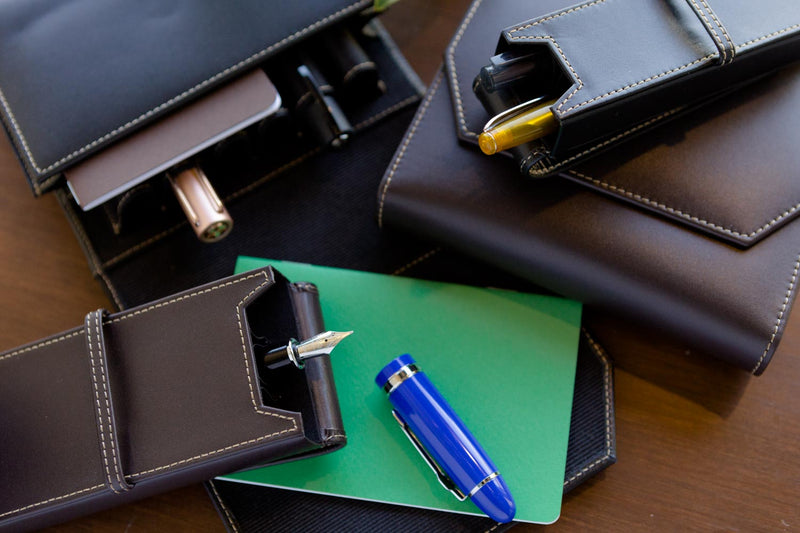 Franklin-Christoph 3 Pen Case - Black