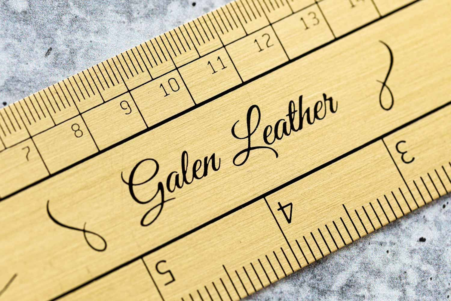 Galen Leather Brass Ruler