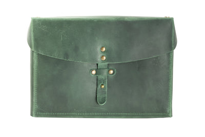 Galen Leather Writer's Medic Bag - Crazy Horse Forest Green