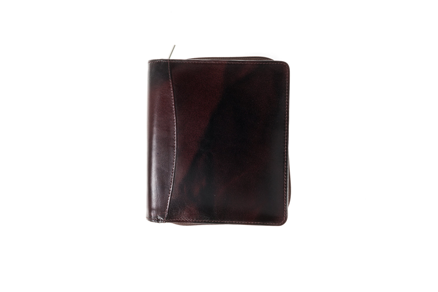 Fountain Pen Case for 24 Pens Oxblood Leather Girologio Brand