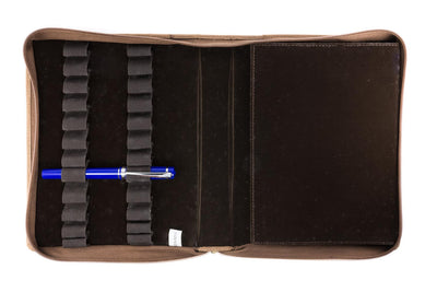 Girologio 24 Pen Case - Saddle Tan