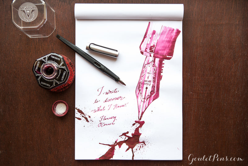 Visconti Bordeaux - Ink Sample