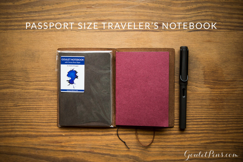 Goulet Notebook w/ 68gsm Tomoe River Paper - Passport TN, Lined