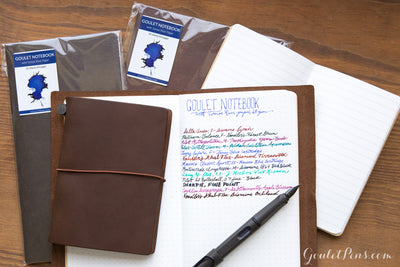 Goulet Notebook w/ 68gsm Tomoe River Paper - Passport TN, Dot Grid (3.5 x 4.88)