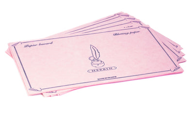 Herbin Ink Blotting Paper - Full Sheets, Pink