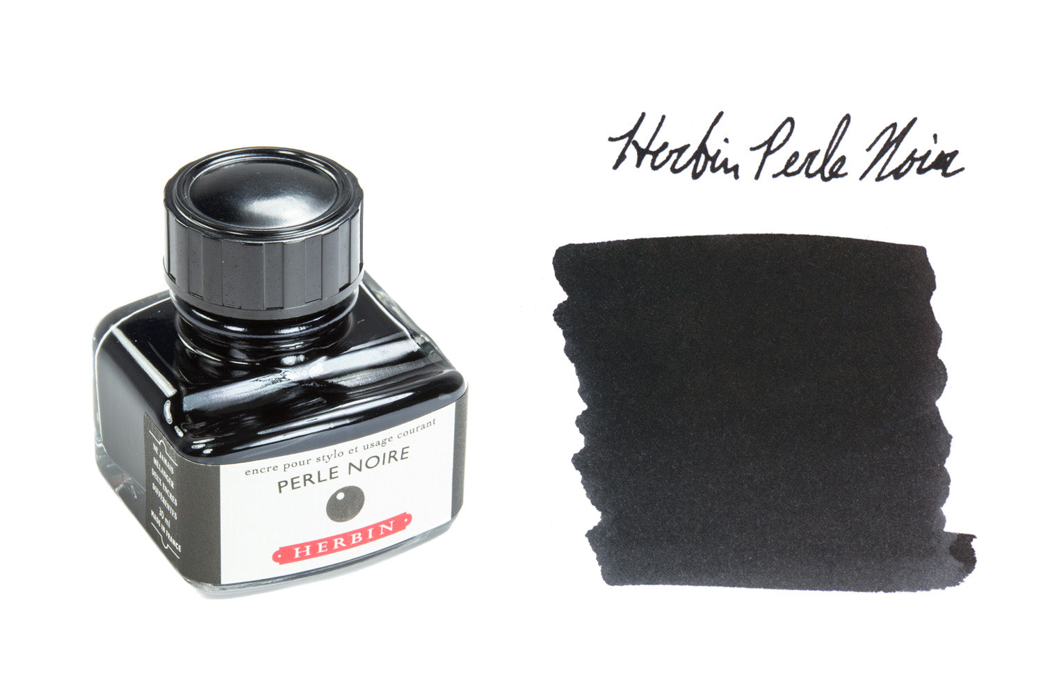 Herbin Perle Noire - 30ml Bottled Ink
