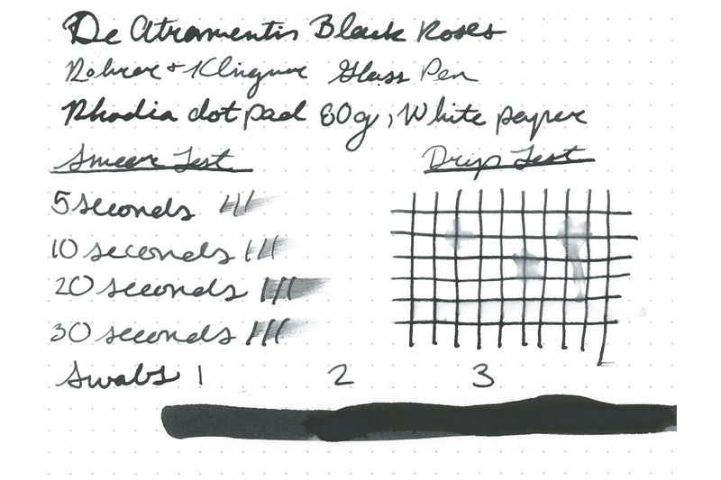 De Atramentis Black Roses (scented) - Ink Sample