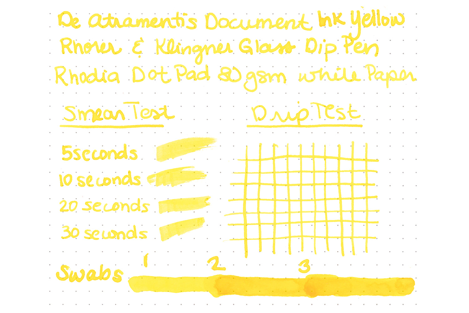 De Atramentis Document Ink Yellow - Ink Sample