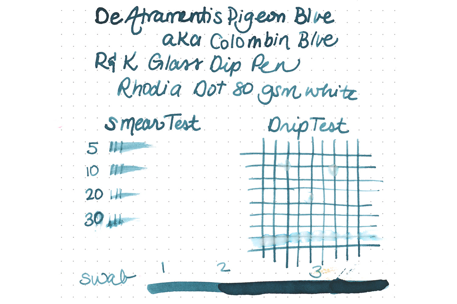 De Atramentis Pigeon Blue - Ink Sample