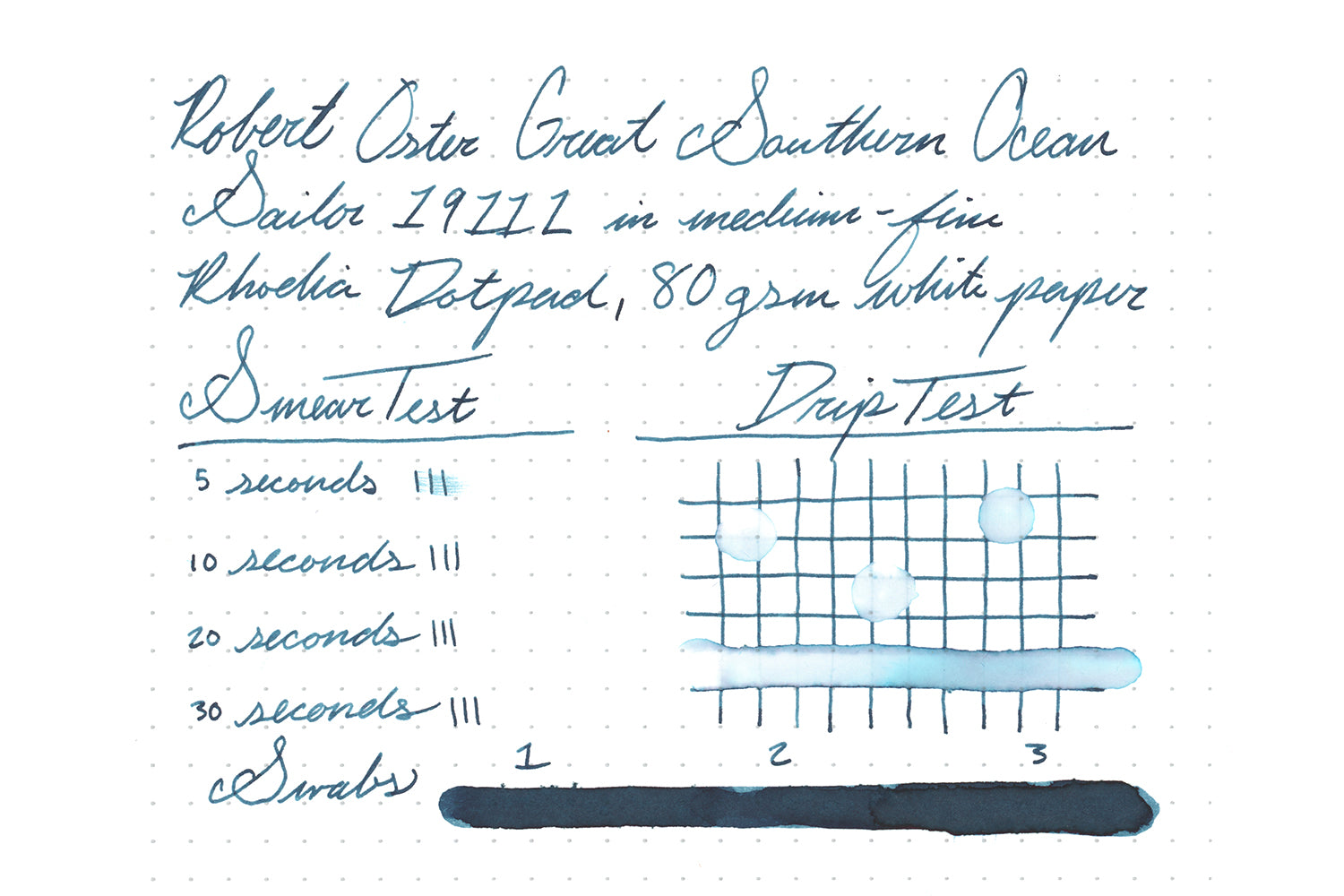 Robert Oster Great Southern Ocean - Ink Sample