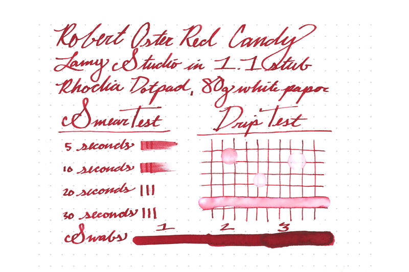 Robert Oster Red Candy - Ink Sample