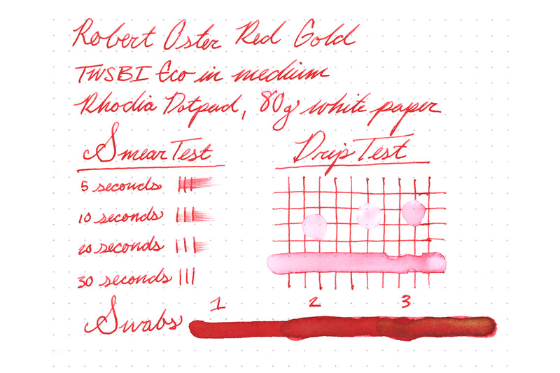 Robert Oster Red Gold - Ink Sample