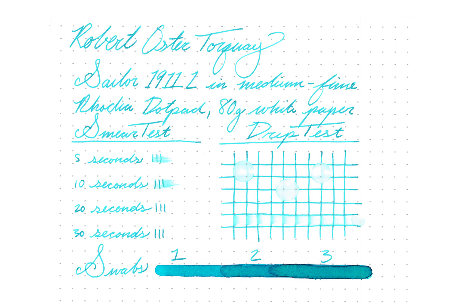 Robert Oster Torquay - Ink Sample