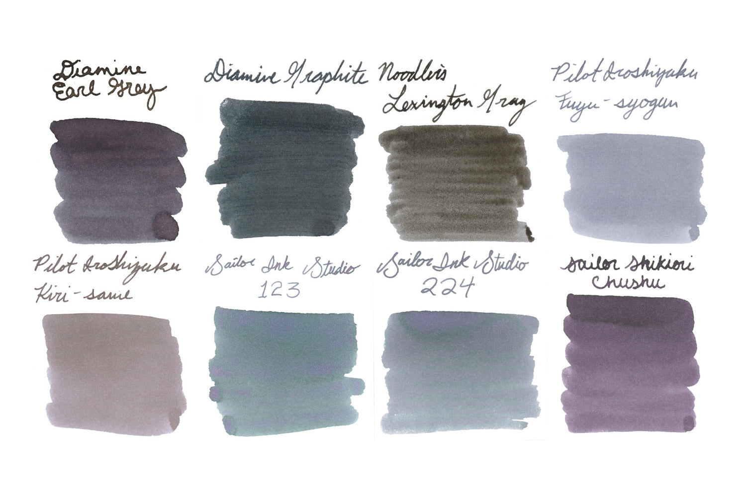 Grey Best Sellers Ink Sample Set The Goulet Pen Company