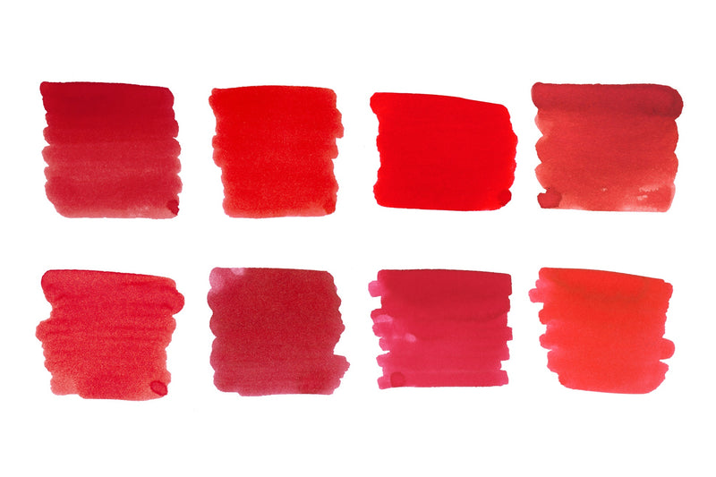 Bright Red Best Sellers - Ink Sample Set