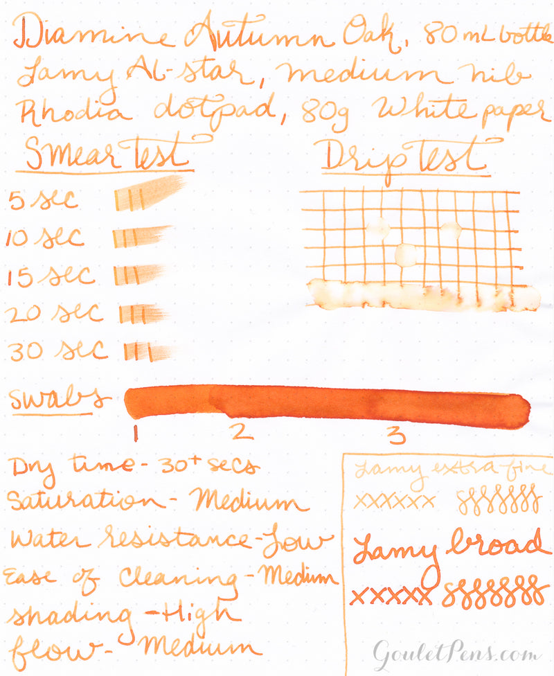 Diamine Autumn Oak - 30ml Bottled Ink