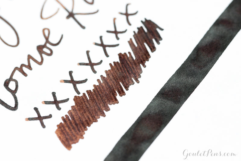 Diamine Chocolate Brown - Ink Sample