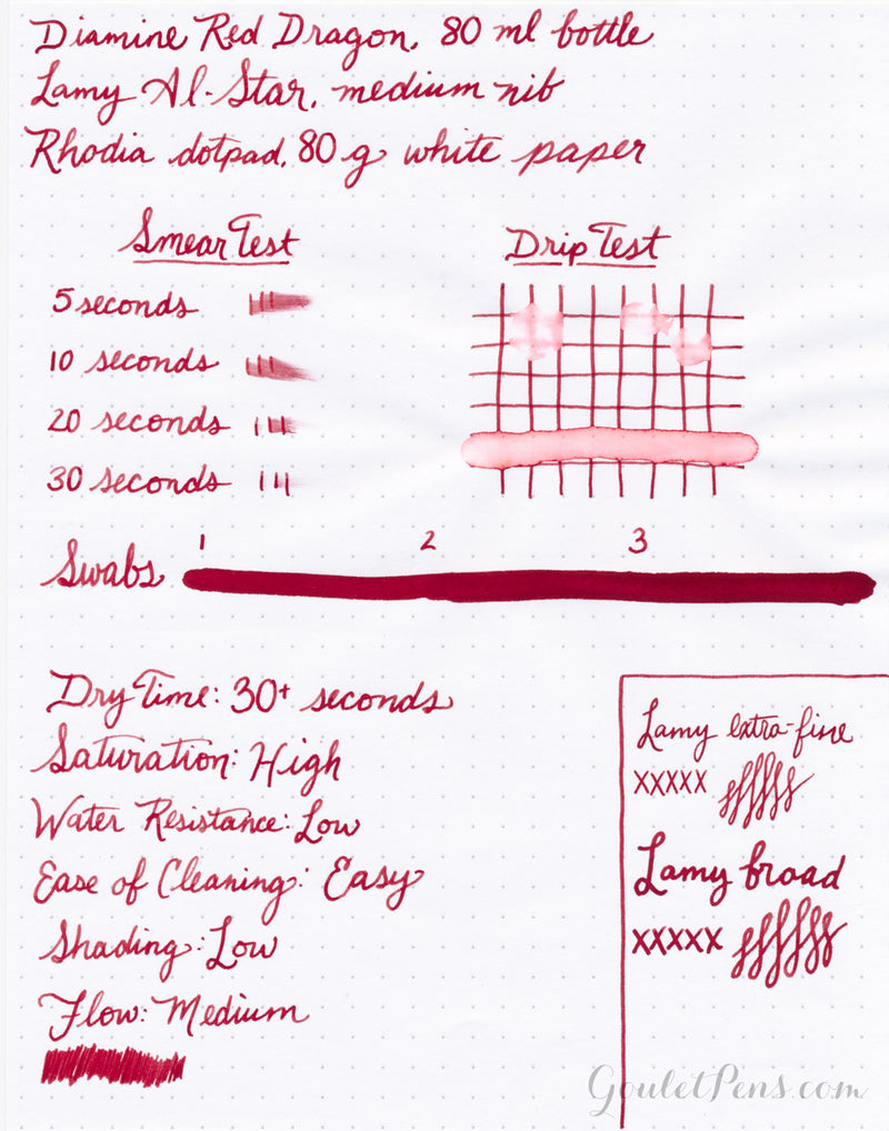 Diamine Red Dragon - 30ml Bottled Ink