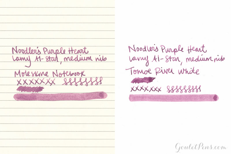 Noodler's Purple Heart - Ink Sample