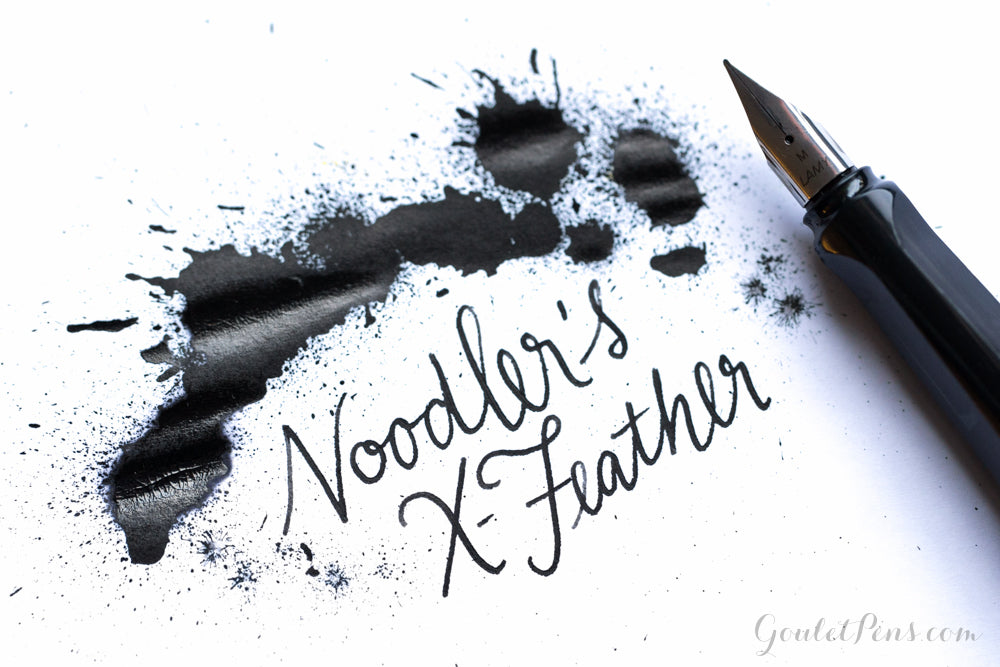 Noodler's X-Feather Black - Ink Sample