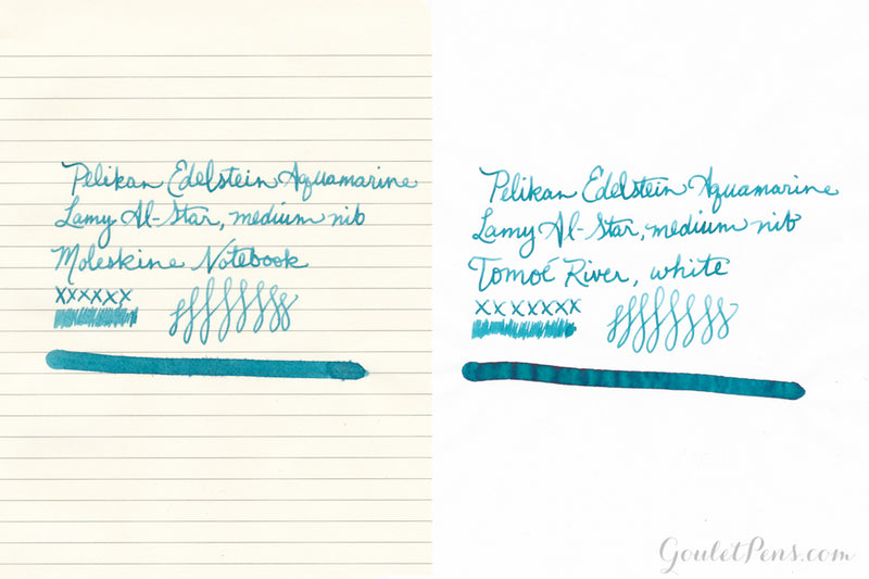Pelikan Edelstein Aquamarine - Ink Sample