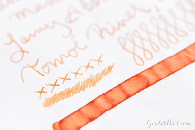 Pelikan Edelstein Mandarin - Ink Sample