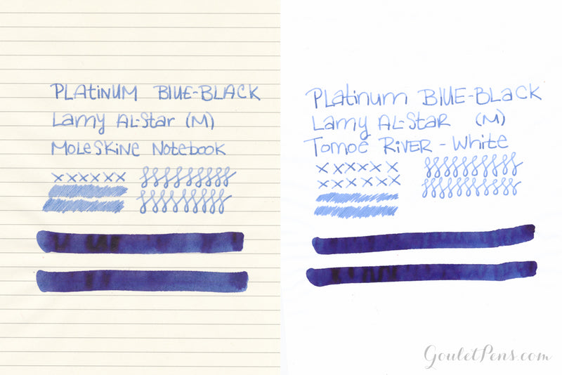 Platinum Blue Black - Ink Sample