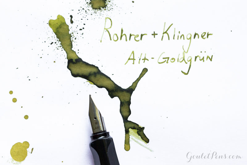 Rohrer & Klingner Alt-Goldgrun - Ink Sample