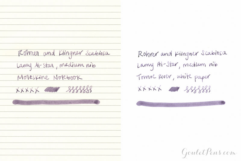 Rohrer & Klingner Scabiosa (iron gall) - Ink Sample