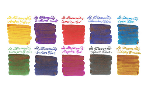 De Atramentis Pearlescent Coppers - Ink Sample Set
