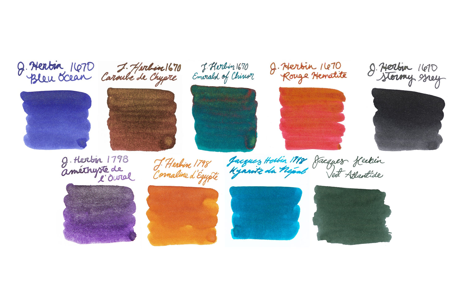 Jacques Herbin Shimmering Full Line - Ink Sample Set