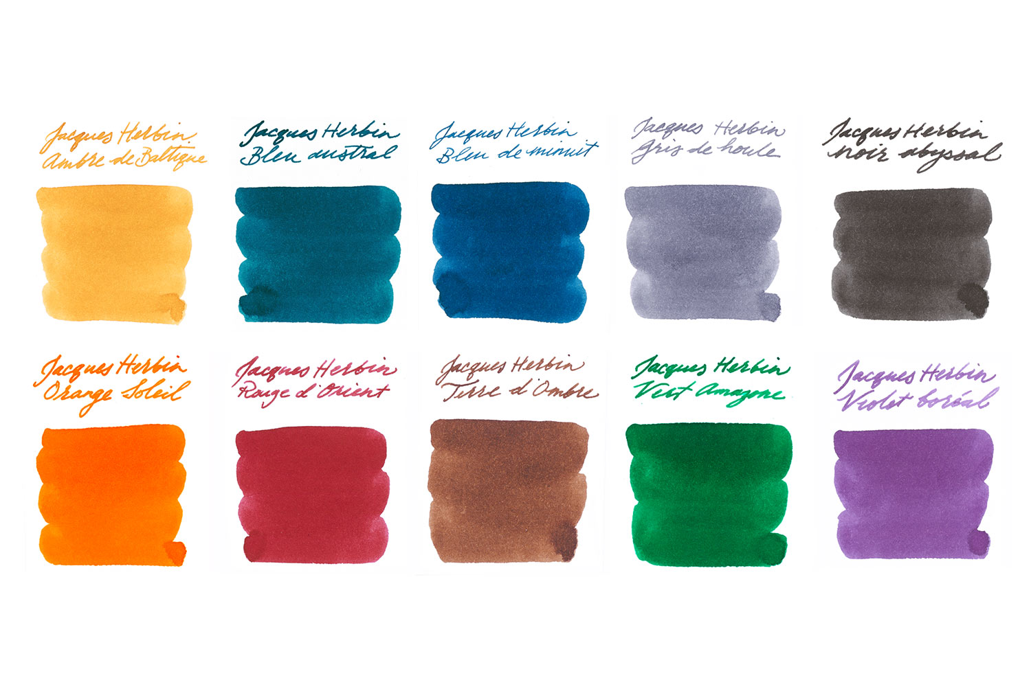 Jacques Herbin Standard Full Line - Ink Sample Set