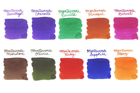 Monteverde Gemstones Full Line - Ink Sample Set