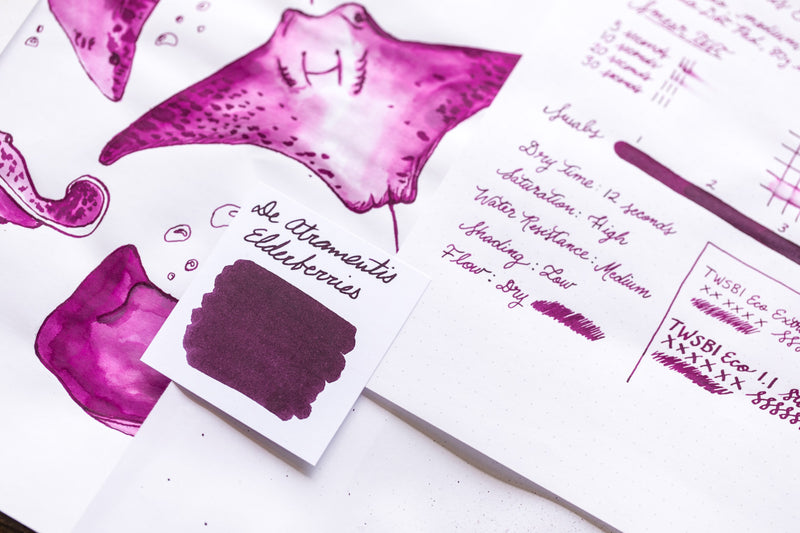 De Atramentis Elderberry (scented) - Ink Sample