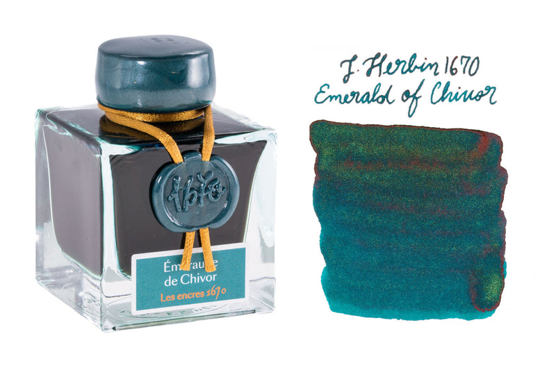 Jacques Herbin 1670 Emerald of Chivor - 50ml Bottled Ink