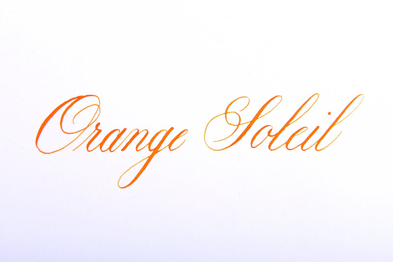 Jacques Herbin Orange Soleil writing sample