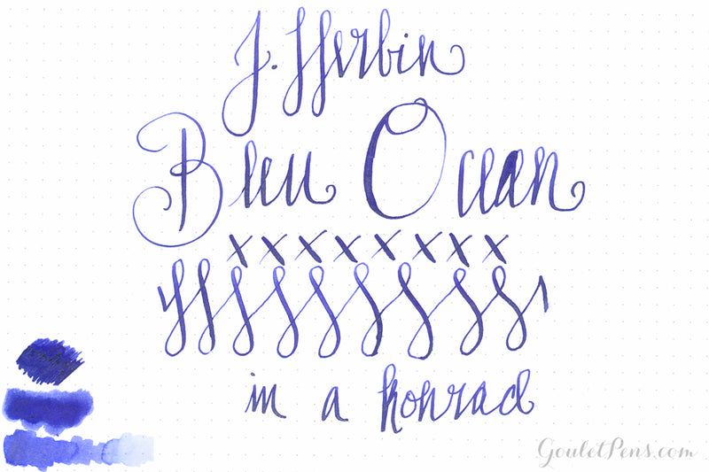 Jacques Herbin 1670 Bleu Ocean - 50ml Bottled Ink