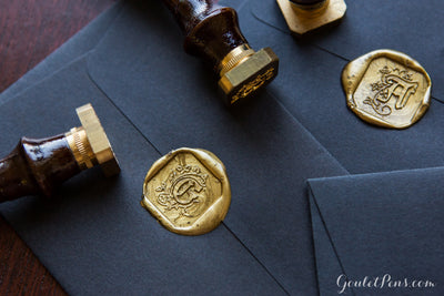 J. Herbin Brass Letter Illuminated Seal with Handle