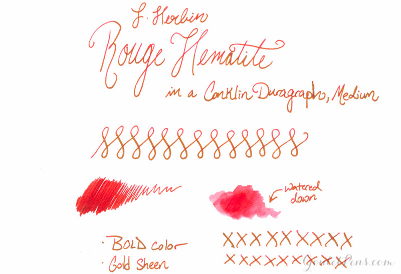 Jacques Herbin 1670 Rouge Hematite - Ink Sample