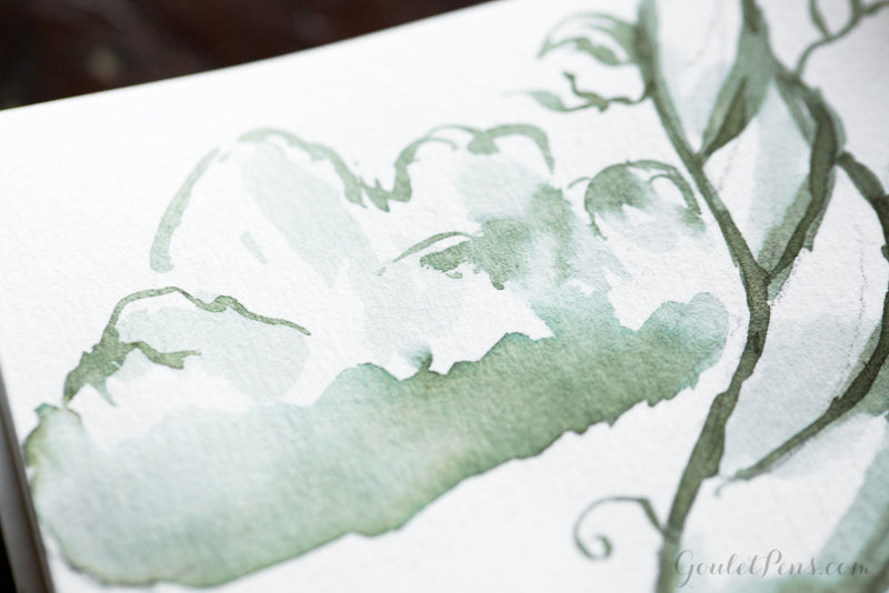 Herbin Vert Empire - Ink Sample