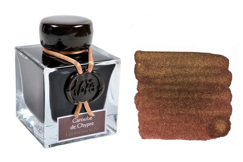 Jacques Herbin 1670 Caroube de Chypre - 50ml Bottled Ink