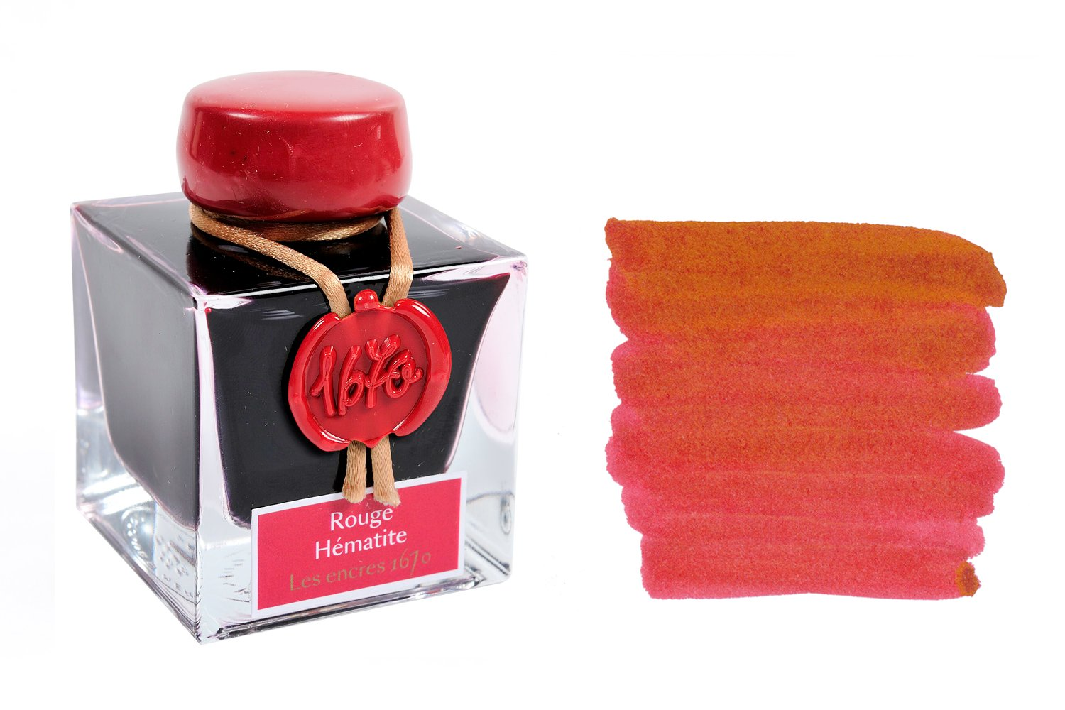 Jacques Herbin 1670 Rouge Hematite - 50ml Bottled Ink
